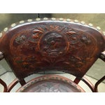 Image of Pair of Josef Hoffman Bent Beechwood and Hand Tooled Leather Armchairs
