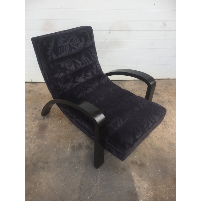 Mid-Century Abstract Upholstered Lounge Chair - Image 4 of 8
