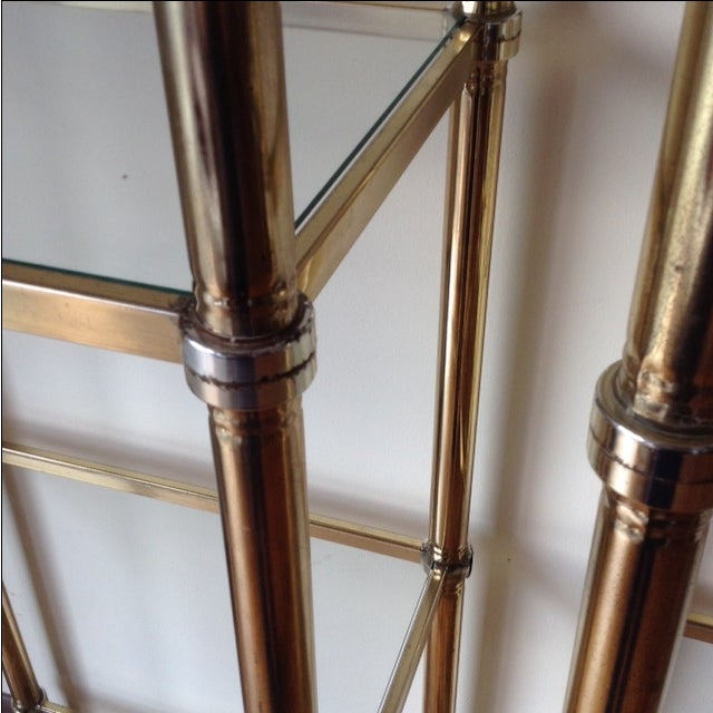 Image of Brass-Plated Etageres - Pair