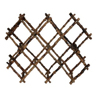 Vintage French Bamboo Wine Rack