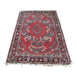 Vintage Persian Lilihan Hand Knotted Rug Wool Rug - 2' x 4'