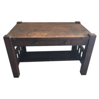 Arts & Crafts Mission Style Oak Veneer Desk