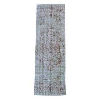 Vintage Turkish Overdye Wool Runner - 2′9″ × 8′8″