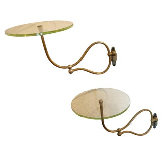 Circular Articulating Wall Mount Shelves - a Pair