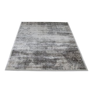 Greek Key Pattern Gray Rugs - 5'3''x7'7''