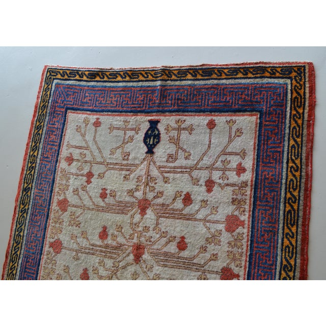 "Antique Khotan Oriental Rug- 3'9"" X 6'3"" - Image 5 of 7"
