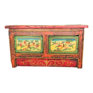 Antique Hand Painted Tibetan Chest