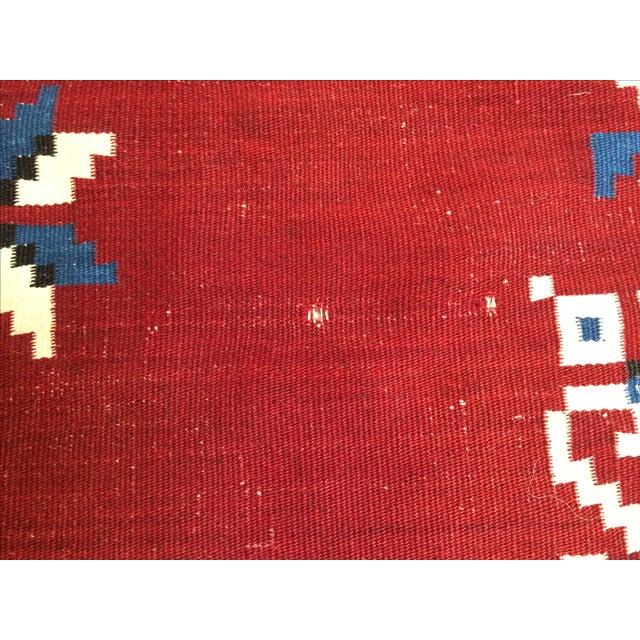 Image of Vintage Southwest Saltilo Serape Rug - 4′10″ × 6′8