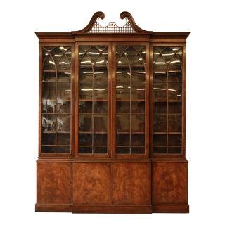Baker Furniture English Mahogany Breakfront