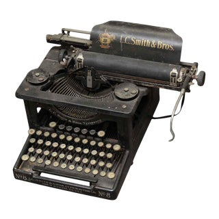 L.C. Smith & Bros. Black Typewriter