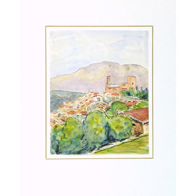 Image of Vintage French Watercolor - Provence, France