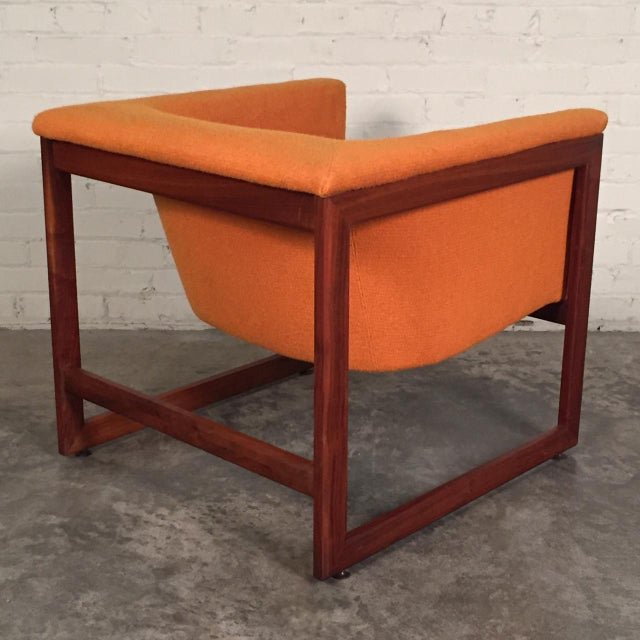 Milo Baughman Mid-Century Modern Floating Cube Chairs - A Pair - Image 4 of 10
