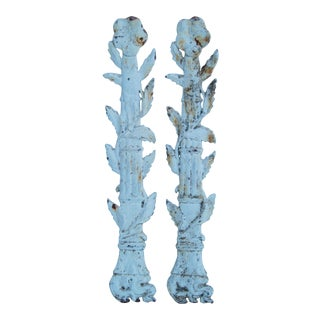 19th C. French Architectural Iron Details - Pair