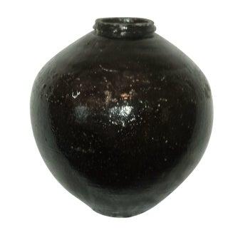 Antique Chinese Brown Glazed Large Jar