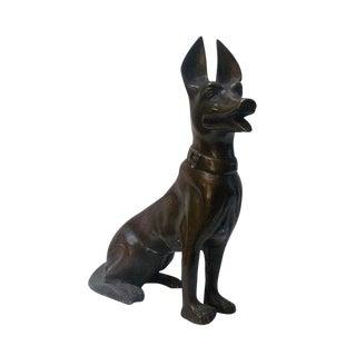 Handmade Metal Bronze German Shepherd Figure Statue