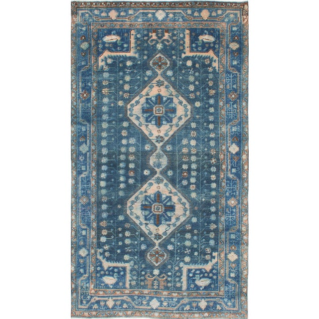 Blue Persian Rug - 5′7″ × 10′ - Image 1 of 2