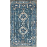 Image of Blue Persian Rug - 5′7″ × 10′