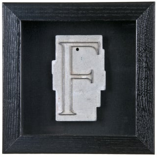 Framed Mid Century Spacerite Steel Letter F