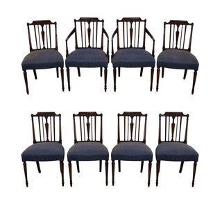 Solid Mahogany Regency Dining Chairs - Set of 8