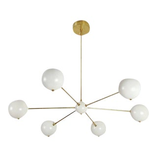 Model 320 Brass & Enamel Chandelier by Blueprint Lighting