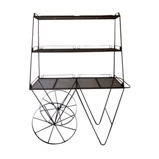Wrought Iron Flower Plant Cart