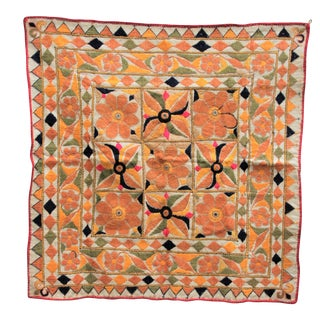 Vintage Embroidered Indian Tapestry in Banjara Style