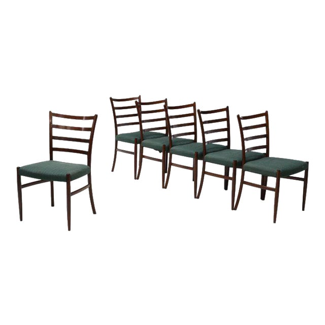 Danish Mid-Century Modern Rosewood Dining Chairs - Set of 6 - Image 1 of 3