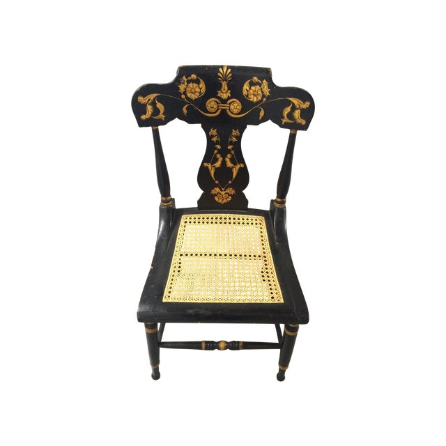 """Antique Baltimore """"Fancy"""" Chair With Cane Seat - Antique Baltimore """"Fancy""""  Chair - Antique Furniture Baltimore Antique Furniture"""