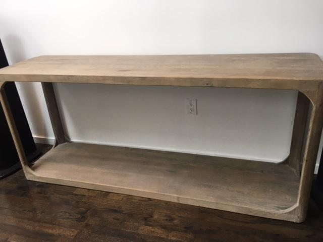 restoration hardware martens rectangular console table image 8 of 9