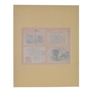 1920s Vintage Sketch Book Sketches by Granville Redmond - Set of 4
