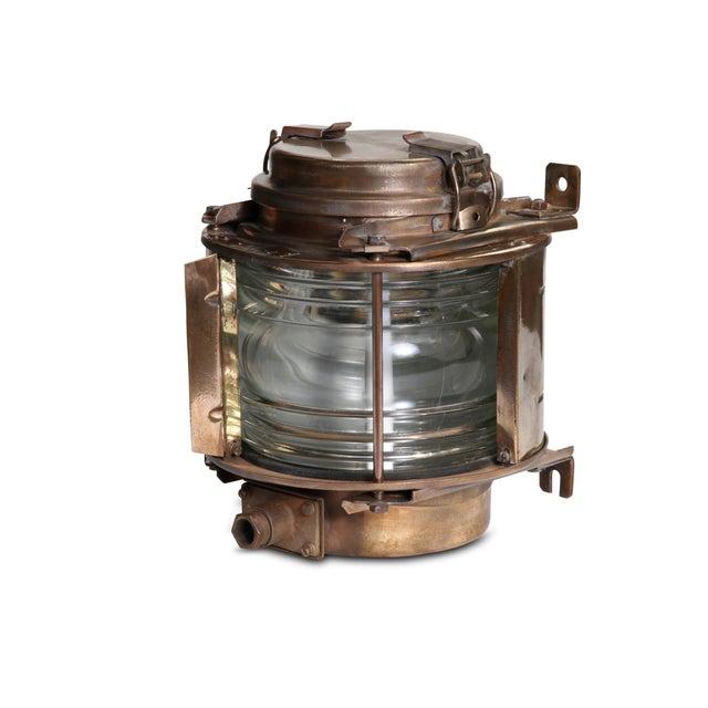 Vintage Brass Ship Lantern - Image 1 of 2