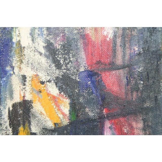 Vintage Julia Bureau Abstract Oil Painting - Image 4 of 7