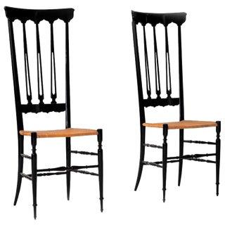 Italian Lacquered Chiavari Chairs - A Pair