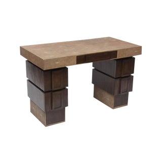 R & Y Augusti Shagreen & Wood Desk