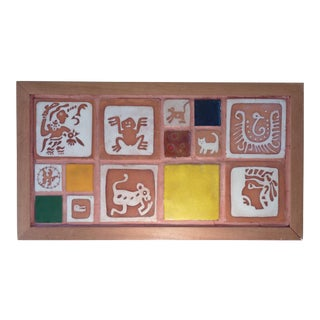 Mid-Century Tile Wall Hanging
