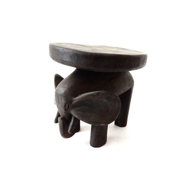 Carved Elephant Milk Stool - Image 3 of 11