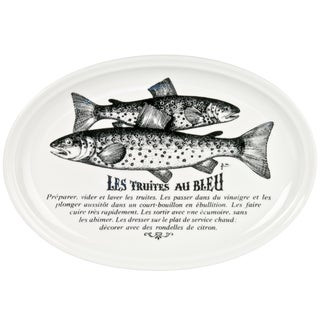 Vintage French Gien Porcelain Fish Plate