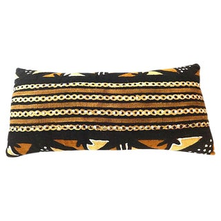 African Mud Cloth Large Long Pillow