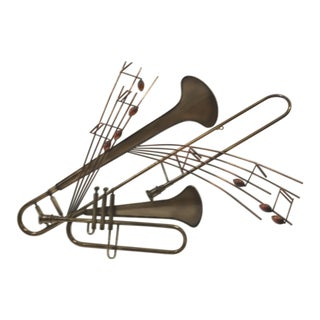 C. Jere Musical Instrument Wall Sculpture