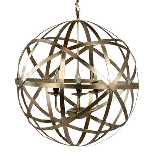 Iron Orb Chandelier 30""