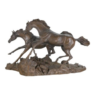 "Franklin Mint - ""Morning on the Montana Plains"""