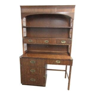 Dixie Campaigner Campaign Style Desk and Hutch