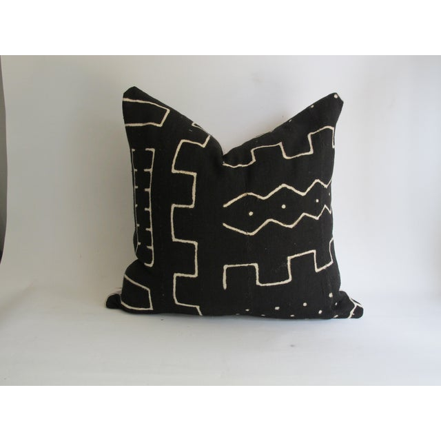 Image of Black Kuba Cloth Pillows - A Pair