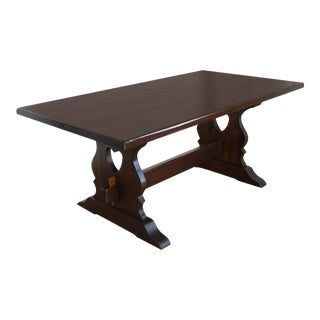 Country Farmhouse Trestle Dining Table- Mortice and Tenon
