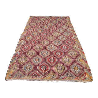Vintage Turkish Kilim Rug - 6′4″ × 10′10″