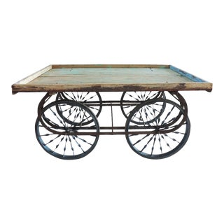 Reclaimed Wood & Iron Cart