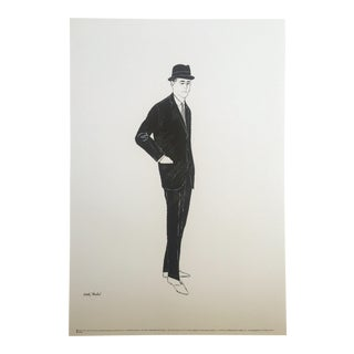 1960 Andy Warhol Pop Art Mid Century Male Fashion Figure Lithograph Print