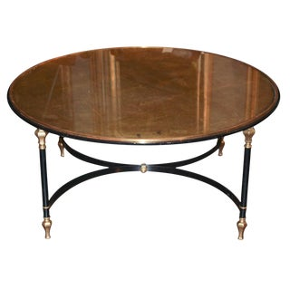 Mid-Century Black Iron Coffee Table