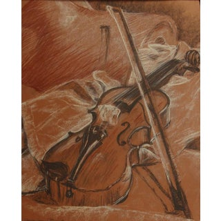 Violin Drawing by Carole Jeanne Buonet