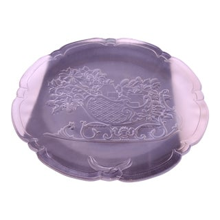 Mikasa Crystal Santa's Sleigh Hostess Platter